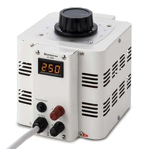 Bronson VC variable transformer from above with control dial