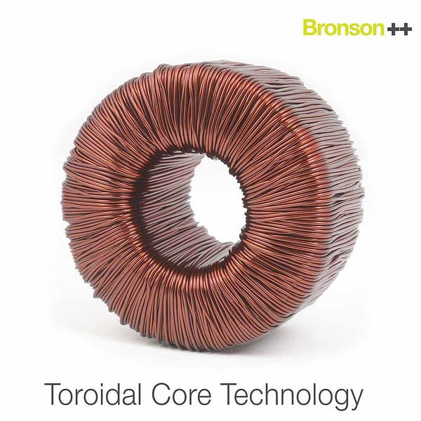 Toroidal core technology for Bronson converters with copper coil
