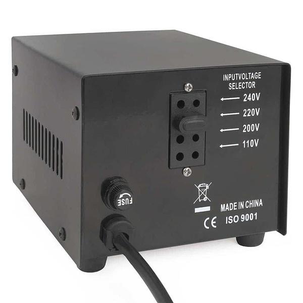 Bronson VT 110v 220v converter back side with input voltage selector