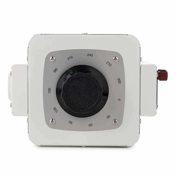 Bronson VC variable transformer bird's eye view with input and output screw terminal display and control dial